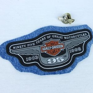 Vintage 1998 Harley Davidson Motorcycle Patch Pin